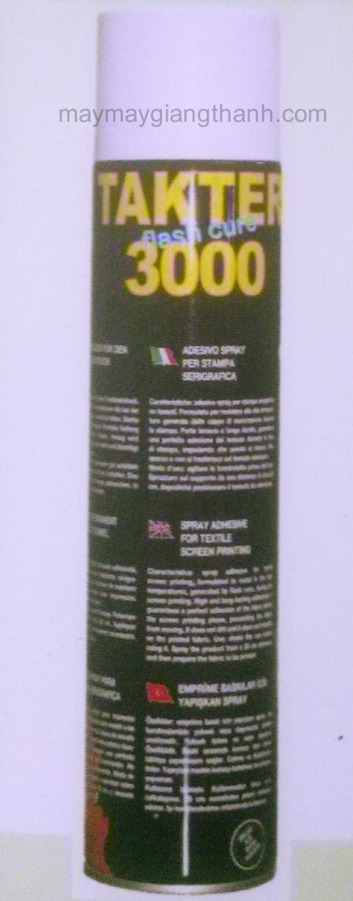 Keo xịt chuyên dụng trong ngành may thêu Takter 3000