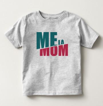 Bán sỉ áo thun trẻ em tay ngắn in chữ Mẹ Là Mom màu xám