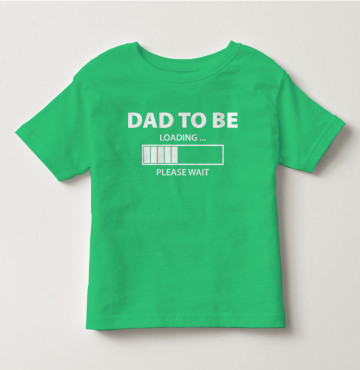 Bỏ sỉ áo thun trẻ em tay ngắn in chữ Dad To ( Xanh bơ )