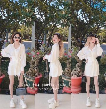 bán buôn set áo sơ mi trắng siêu yêu
